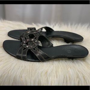 Cole Haan black leather sandals size 10.5B